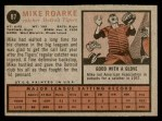 1962 Topps #87  Mike Roarke  Back Thumbnail