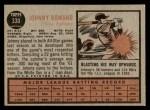 1962 Topps #330  John Romano  Back Thumbnail