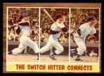 1962 Topps #318   -  Mickey Mantle The Switch Hitter Connects Front Thumbnail
