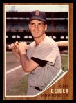 1962 Topps #117 NRM Gary Geiger  Front Thumbnail
