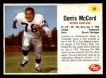 1962 Post #54  Darris McCord  Front Thumbnail