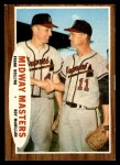 1962 Topps #211   -  Frank Bolling / Roy McMillan Midway Masters Front Thumbnail