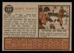 1962 Topps #177 GRN Bobby Shantz  Back Thumbnail