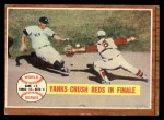 1962 Topps #236   1961 World Series - Game #5 - Yanks Crush Reds in Finale Front Thumbnail