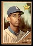 1962 Topps #69  Phil Ortega  Front Thumbnail