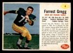 1962 Post #4  Forrest Gregg  Front Thumbnail