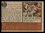 1962 Topps #329  Bobby Bolin  Back Thumbnail