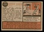 1962 Topps #183 GRN Roger Craig  Back Thumbnail