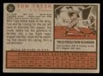 1962 Topps #31  Tom Tresh  Back Thumbnail