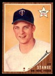 1962 Topps #321  Lee Stange  Front Thumbnail