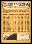1968 Topps #437  Don Cardwell  Back Thumbnail