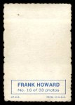 1969 Topps Deckle Edge #16  Frank Howard     Back Thumbnail