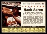 1961 Post #107 BOX Hank Aaron   Front Thumbnail