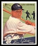 1934 Goudey Reprint #61  Lou Gehrig  Front Thumbnail