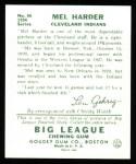 1934 Goudey Reprint #66  Mel Harder  Back Thumbnail