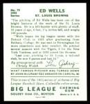1934 Goudey Reprint #73  Ed Wells  Back Thumbnail