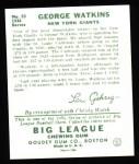 1934 Goudey Reprint #53  George Watkins  Back Thumbnail