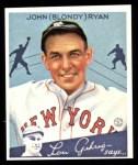1934 Goudey Reprint #32  Blondy Ryan  Front Thumbnail