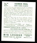 1934 Goudey Reprint #88  Homer Peel  Back Thumbnail