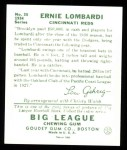 1934 Goudey Reprint #35  Ernie Lombardi  Back Thumbnail