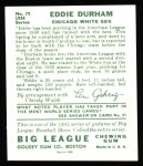 1934 Goudey Reprint #79  Eddie Durham  Back Thumbnail