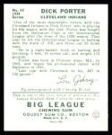 1934 Goudey Reprint #43  Dick Porter  Back Thumbnail