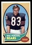1970 Topps #256  Mac Percival  Front Thumbnail