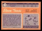 1970 Topps #39  Steve Tensi  Back Thumbnail