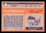 1970 Topps #137  Paul Robinson  Back Thumbnail