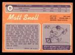 1970 Topps #35  Matt Snell  Back Thumbnail