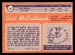 1970 Topps #195  Earl McCullough  Back Thumbnail