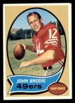 1970 Topps #130  John Brodie  Front Thumbnail