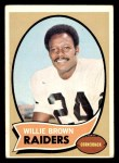 1970 Topps #144  Willie Brown  Front Thumbnail