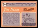 1970 Topps #60  Jim Nance  Back Thumbnail