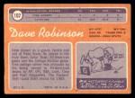 1970 Topps #102  Dave Robinson  Back Thumbnail