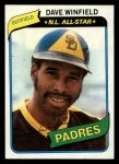 1980 Topps #230  Dave Winfield  Front Thumbnail