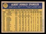 1970 Topps #714  Al Spangler  Back Thumbnail