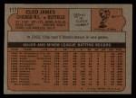 1972 Topps #117 GRN Cleo James  Back Thumbnail