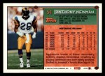 1994 Topps #54  Anthony Newman  Back Thumbnail