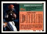 1994 Topps #71  Vinny Testaverde  Back Thumbnail