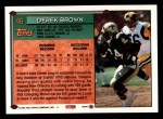 1994 Topps #46  Derek Brown  Back Thumbnail