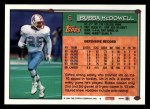 1994 Topps #6  Bubba McDowell  Back Thumbnail