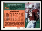 1994 Topps #18  Tyronne Stowe  Back Thumbnail