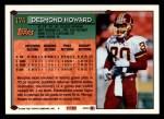 1994 Topps #174  Desmond Howard  Back Thumbnail