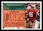 1994 Topps #179  Tim McDonald  Back Thumbnail
