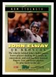 1994 Topps #196   -  John Elway Tools of the Game Back Thumbnail