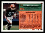 1994 Topps #172  Mark Carrier  Back Thumbnail