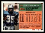 1994 Topps #423  William White  Back Thumbnail