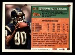1994 Topps #421  Shawn Jefferson  Back Thumbnail