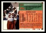 1994 Topps #369  Lorenzo Lynch  Back Thumbnail